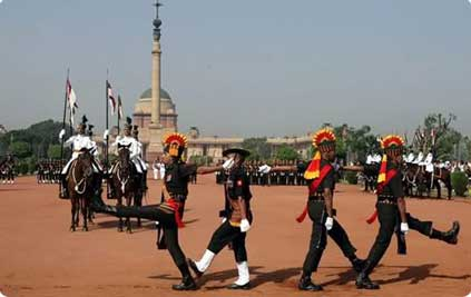 Changing the Guard in New Delhi, India