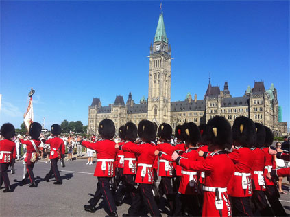 guards at Parliament Hill Canada