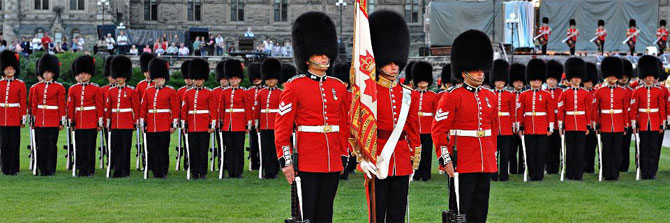 Changing the Guard on Parliament Hill in Ottawa