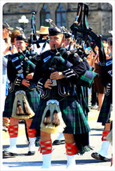 Pipers at Changing the Guard Parliament Hill, Ottowa
