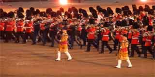Beating Retreat on Horse Guards Parade