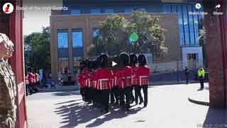 With the Irish Guards in Victoria Barracks
