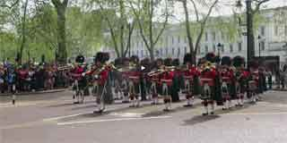 Royal Regiment of Scotland on Public Duties in London