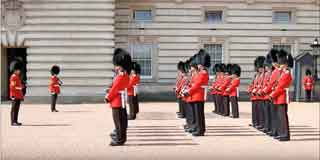Changing The Queen's Guard at Buckingham Palace