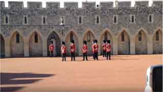 Guard Mount ceremony insdie windsor Castle