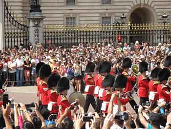 Welsh Guards Band at Buckingham Palace