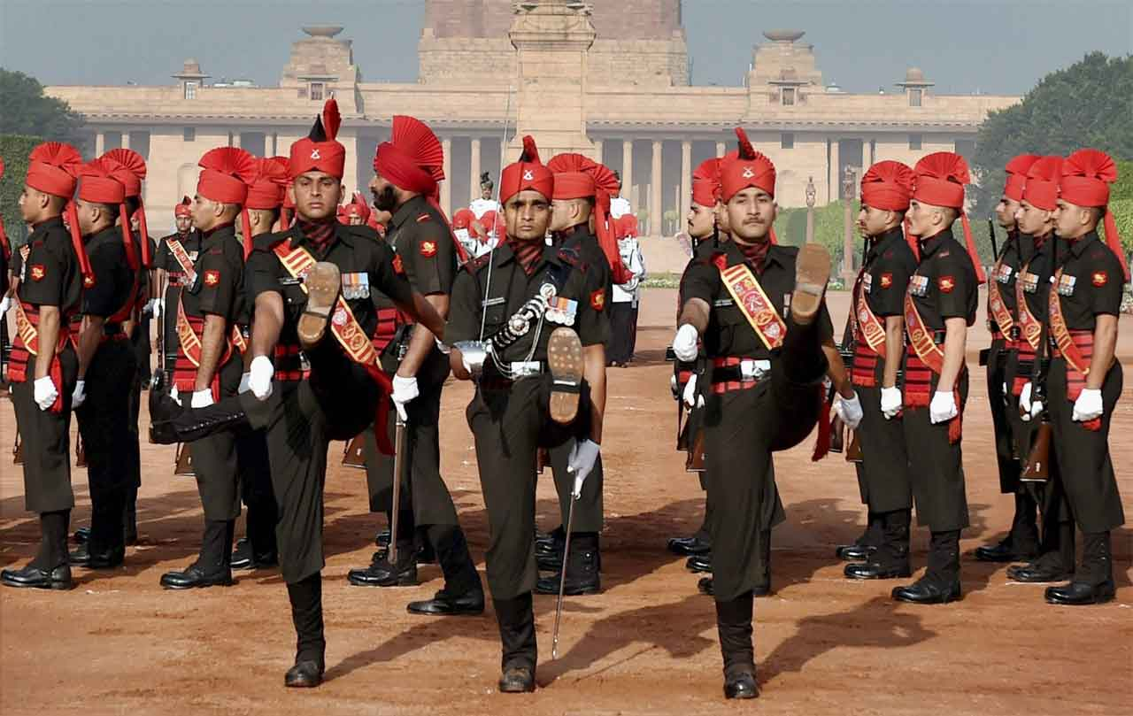 The weekly Changing of the Guard in New Dehli