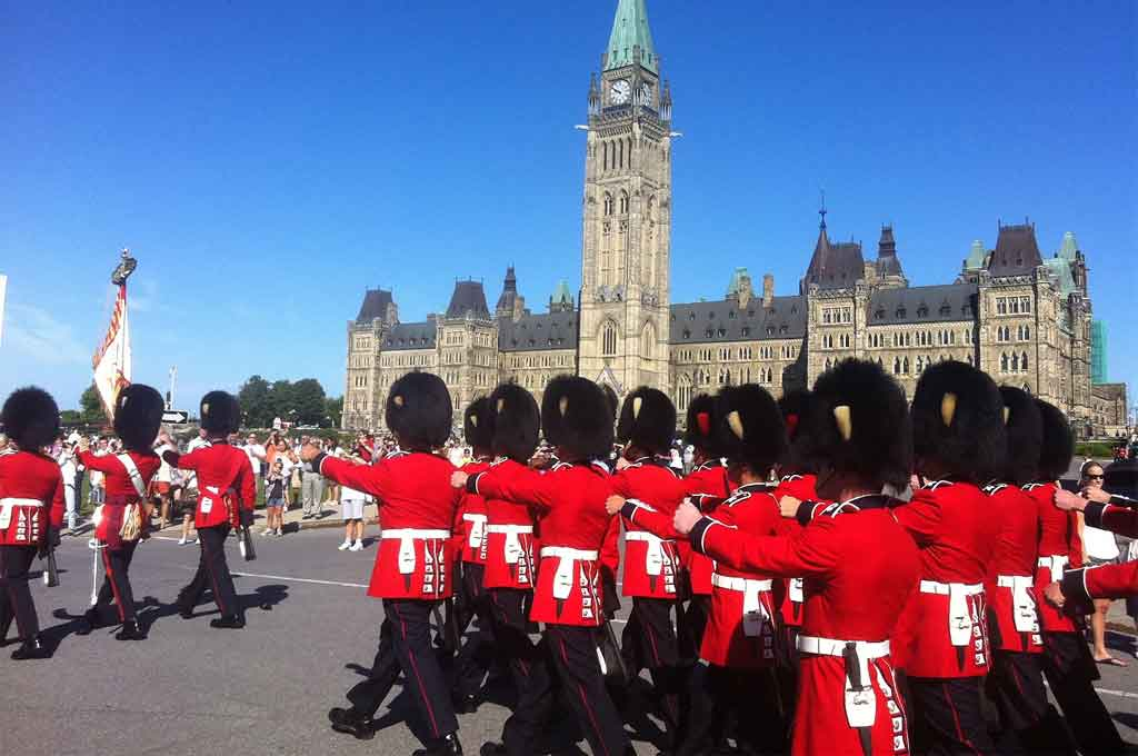 Changing the Guard on Parlaiment Hill Ottawa, Canada